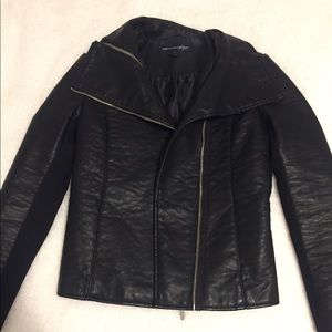 French Connection Faux Leather Moro Jacket